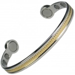 MPS® HERO Mega-Strength Two Tone Magnetic Bracelet Cuff Style