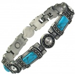 MPS® KARINN Turquoise Gemstones Magnetic Bracelet for Women