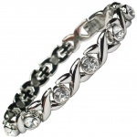 MPS® JAMAIN White Crystals Magnetic Bracelet