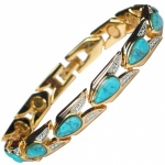 MPS® VENICE Magnetic Bracelet with Turquoise Gemstones