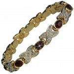MPS® TARIM Red Crystals Magnetic Bracelet