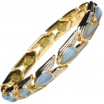 MPS® VENICE Magnetic Bracelet with Aquamarine Stones