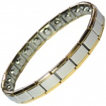 MPS® PYTHON Narrow Expanding Magnetic Bracelet with golden rims for Women