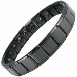 MPS® PYTHON Wide Expanding Magnetic Bracelet for Women Black