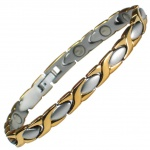 MPS® ALIOTH Classic Ladies Stainless Steel Magnetic Therapy Bracelet