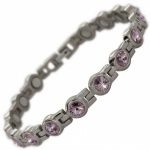 MPS® NORTHIA Titanium Magnetic Bracelet for Women with SWAROVSKI® Violet Crystals