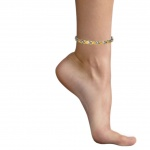 MPS® ALIOTH GOLD-SILVER Finish Double Strength Titanium Magnetic Anklet