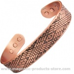 MPS MEDUE Copper Magnetic Bangle with Six magnets