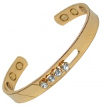 MPS THE VALLEY OF CRYSTALS Magnetic Bangle Gold Plated