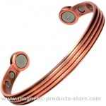 MPS Pure Copper Matt Tone Super Strength Magnetic Bangle / Bracelet