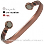 MPS BIO ENERGY Copper Matt Smooth Magnetic Bracelet