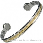 MPS Mega-Strength Two Tone Magnetic Bracelet Cuff Style