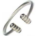 JENOMI A Steel Rope Design Bio Magnetic Bangle