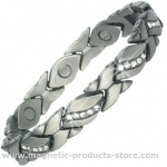 MPS® JAY Pewter Magnetic Therapy Bracelet