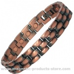 MENAT Mens Classic Copper Alloy Magnetic bracelet