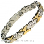 MPS® JAY Two Tone Magnetic Therapy Bracelet