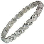 MPS® DARIA SILVER TONE LADIES MAGNETIC BRACELET