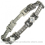 MPS™ CHRISTO Celtic Style with Clear Crystals Magnetic Bracelet