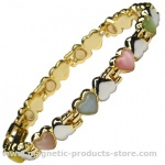 MPS™ MARIALA Hearts Assorted Gemstones Magnetic Bracelet
