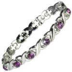 MPS™ JAMAIN Purple Crystals Magnetic Bracelet