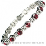 MPS™ TENNIS Deep Red Magnetic Bracelet with Crystals