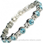 MPS™ TENNIS Summer Sky Magnetic Bracelet with Crystals