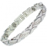 MPS® JAY Silver Tone Magnetic Therapy Bracelet