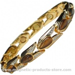 MPS™ VITIM Amber Magnetic Bracelet with Gem Stones