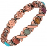 MPS® MEGANE ASSORTED STONES Copper Rich Magnetic Bracelet for Women