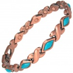 MPS® MEGANE II Copper Rich Magnetic Bracelet with TURQUOISE Gemstones