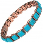 MPS® MEGANE III Copper Rich Magnetic Bracelet with TURQUOISE Gemstones