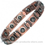 Men's CHONS Copper Alloy Magnetic Bracelet with Acupressure Balls
