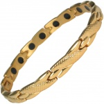 MPS™ ADANA Gold PL Ladies Stainless Steel Magnetic Therapy Bracelet