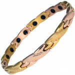MPS® ADANA Two Tone Gold PL Ladies Stainless Steel Magnetic Therapy Bracelet