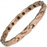 MPS® SEYAN Rose Gold PL Ladies Stainless Steel Magnetic Therapy Bracelet