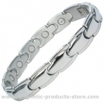 MPS™ ALHAMBRA Stainless Steel Magnetic Therapy Bracelet
