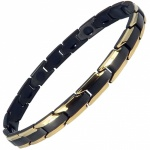 MPS® CastleRock for Women Titanium Magnetic Bracelet GOLD-BLACK