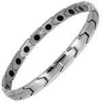 MPS® CastleRock for Women Titanium Magnetic Bracelet SILVER