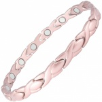 MPS® ALIOTH Pink Classic Titanium Magnetic Bracelet, Matt finish