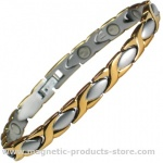 MPS™ ALIOTH GS Classic Ladies Stainless Steel Magnetic Therapy Bracelet
