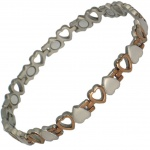 MPS® VENUS HEARTS Titanium Magnetic Bracelet for Women Copper Effect