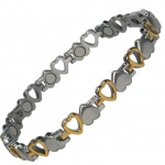 MPS® VENUS HEARTS Titanium Magnetic Bracelet for Women Gold Effect