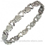 MPS® VENUS' HEARTS Titanium Magnetic Bracelet for Women Silver Effect