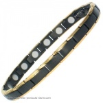 MPS® BAHAMA GOLD & BLACK Ladies Titanium Magnetic Bracelet