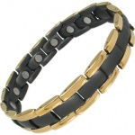 MPS™ POLARIS BLack & Gold Plated Titanium Magnetic Bracelet