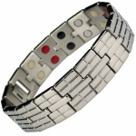 MPS® Titan Bricks Titanium & Germanium Magnetic Bracelet