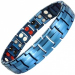 MPS® HOMERIE BLUE Titanium & Germanium Magnetic Bracelet