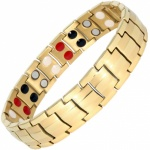 MPS® Homerie GOLD Titanium & Germanium Magnetic Bracelet