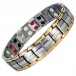 IonTopia® EUROPE GOLD-SILVER Titanium & Germanium Magnetic Bracelet