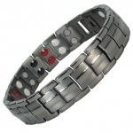 IonTopia® EUROPE GUNMETAL Titanium & Germanium Magnetic Bracelet